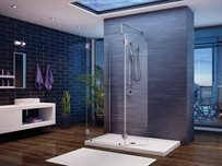 4 and 5 Walk-in Shower System <br />3/8 (10-mm) glass