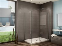 5 and 6 Walk-in Shower System<br><b>No shield,</b> 3/8 (10-mm) glass