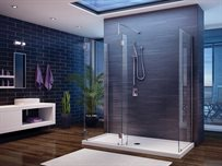 5 and 6 Walk-in Shower System<br><b>No Shield, 3-sided,</b> 3/8 (10-mm) glass