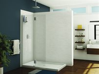 Monaco square top shower shield with fixed panel, 3/8 (10 mm)