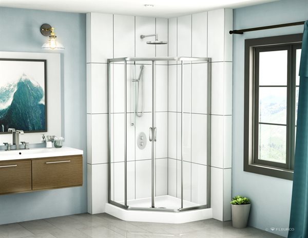 Fleurco Glass Shower Doors Signature Capri Neo Angle