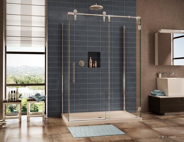 Fleurco | Glass shower doors | Kinetik KS In line 3 sides