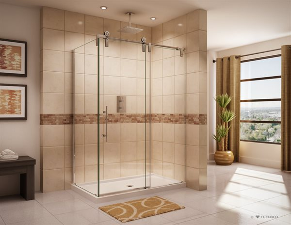 shower varieties and with glass bathroom interiors panels home sliding of styles doors