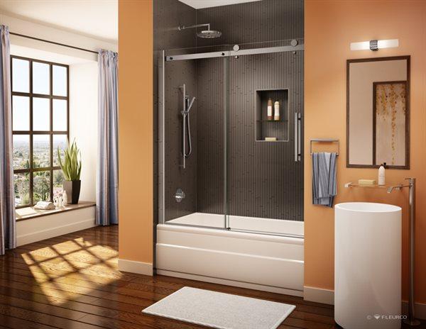 fleurco | glass shower doors | novara tub enclosure