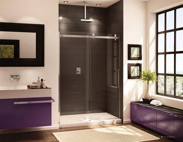 Fleurco Glass Shower Doors Novara In Line