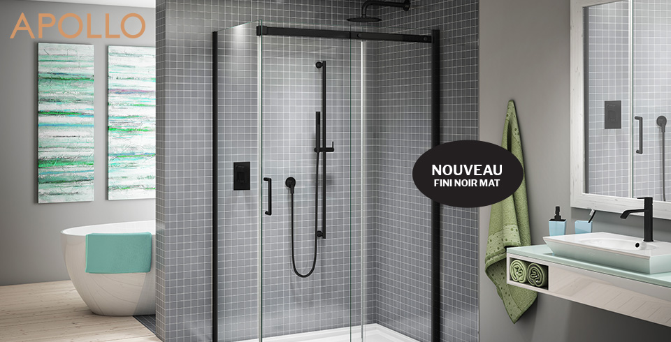 accueil fleurco porte de douche haute gamme en verre. Black Bedroom Furniture Sets. Home Design Ideas