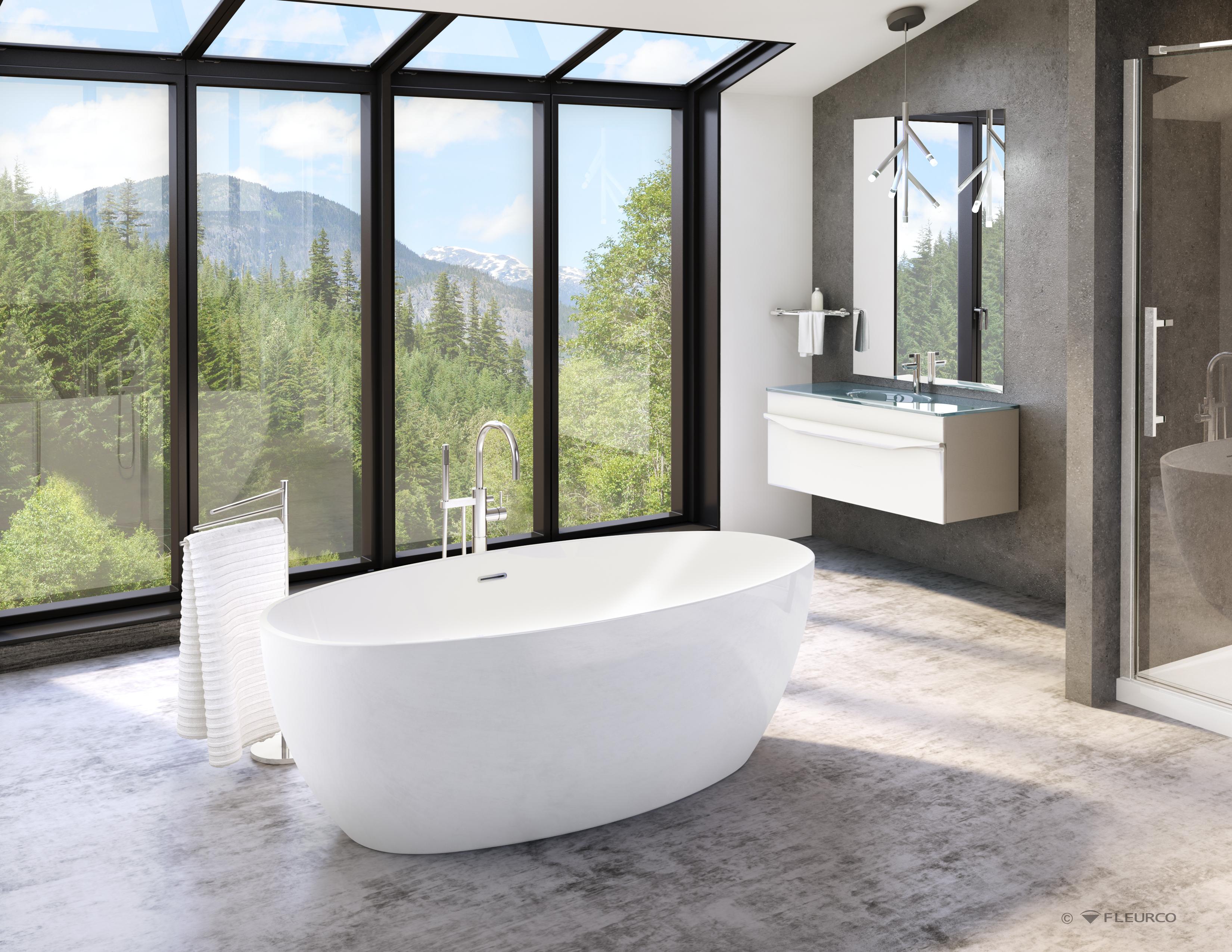 drain for freestanding tub. High Resolution Photo Fleurco  Bathtubs Aria Voce