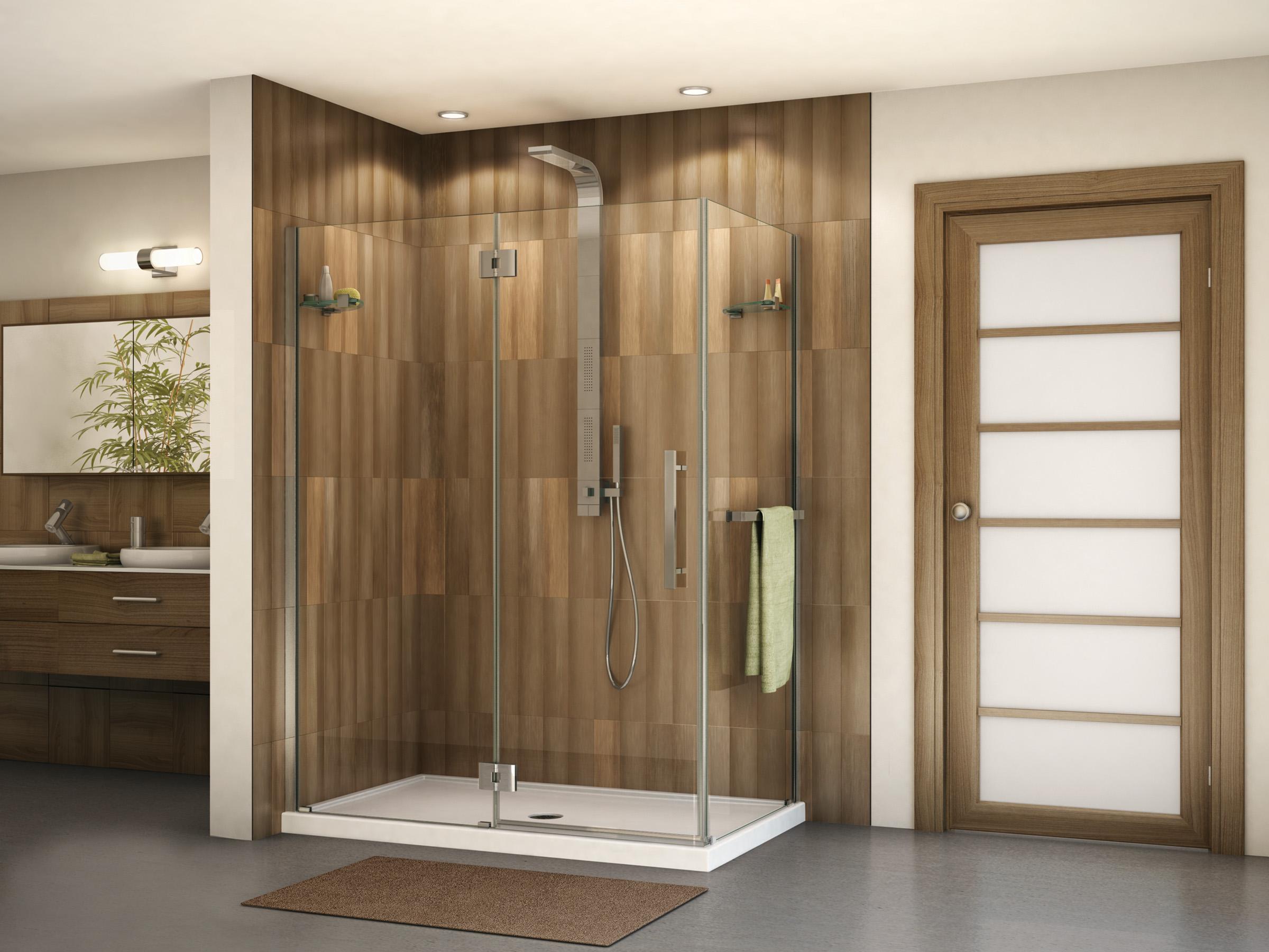 Fleurco portes de douche en verre platinum en alc ve 2 for Porte de bain douche