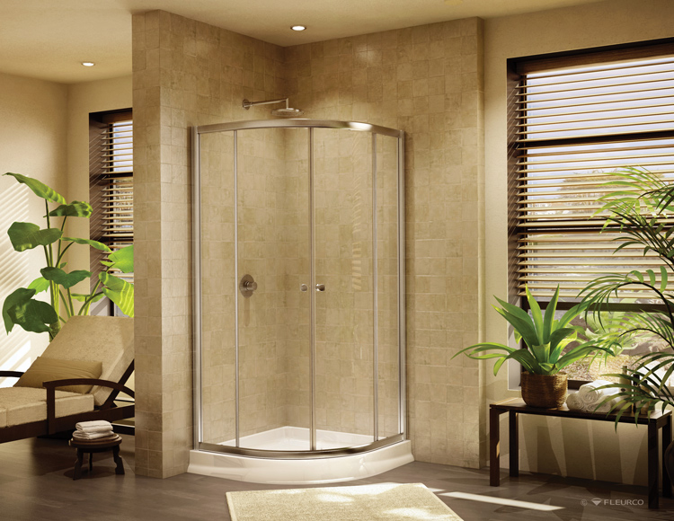 Fleurco Glass Shower Doors Banyo Amalfi Round