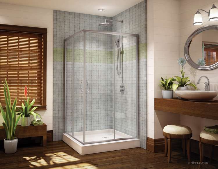 Fleurco Glass Shower Doors Signature Capri Square