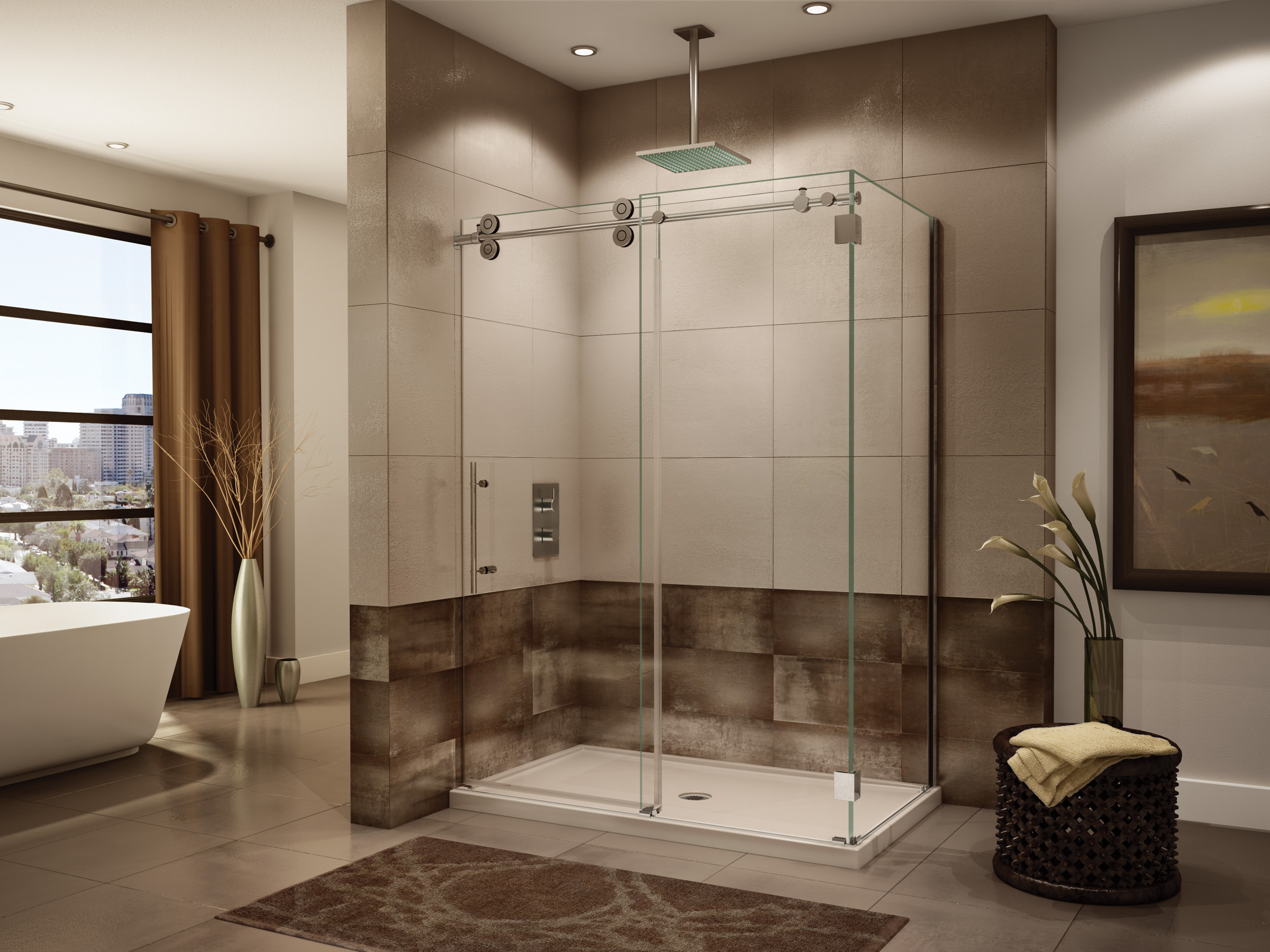 Fleurco Glass Shower Doors Kinetik Kt In Line 2