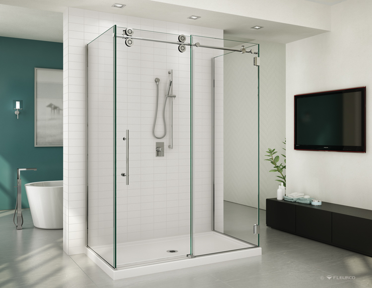 Fleurco Glass Shower Doors Kinetik Kt In Line 3 Sides