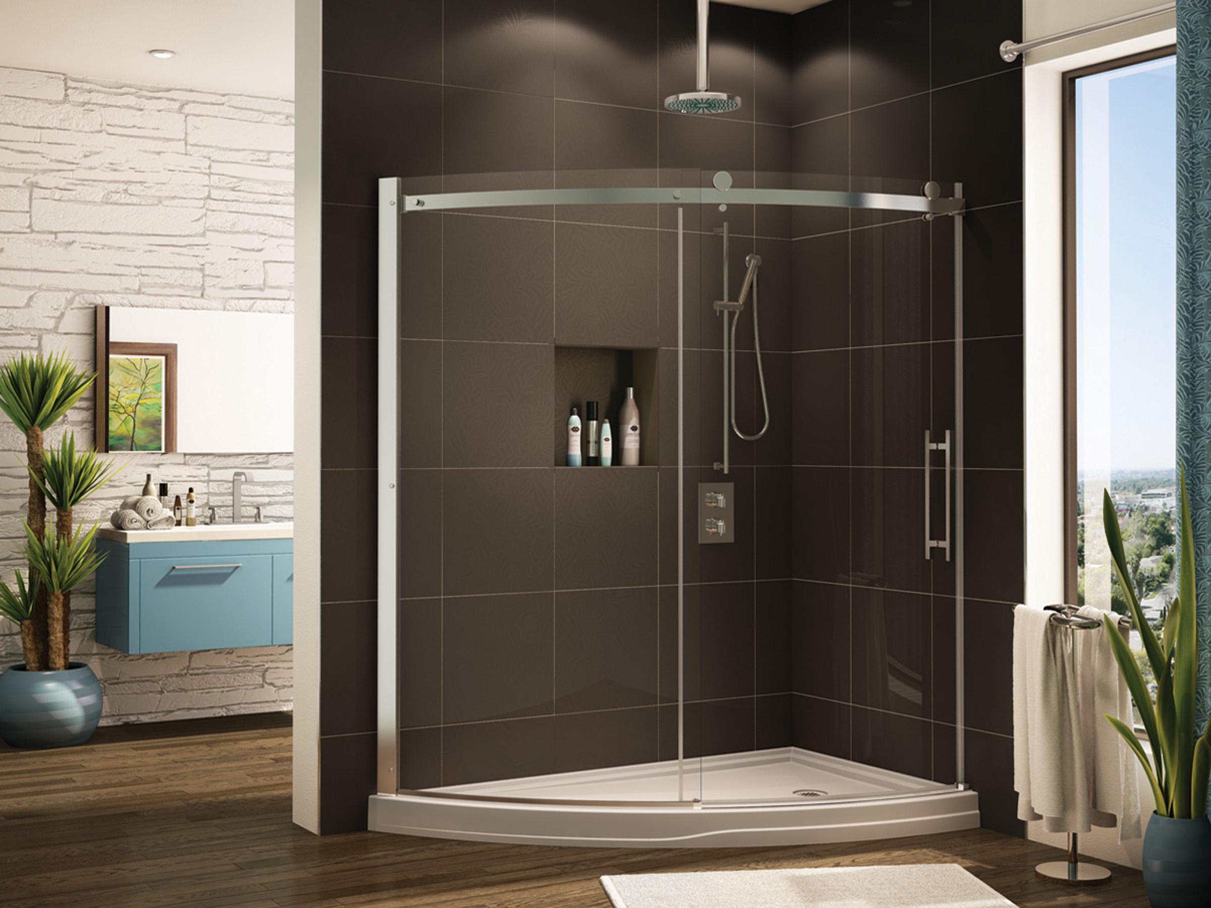 Fleurco Glass Shower Doors Novara Slice