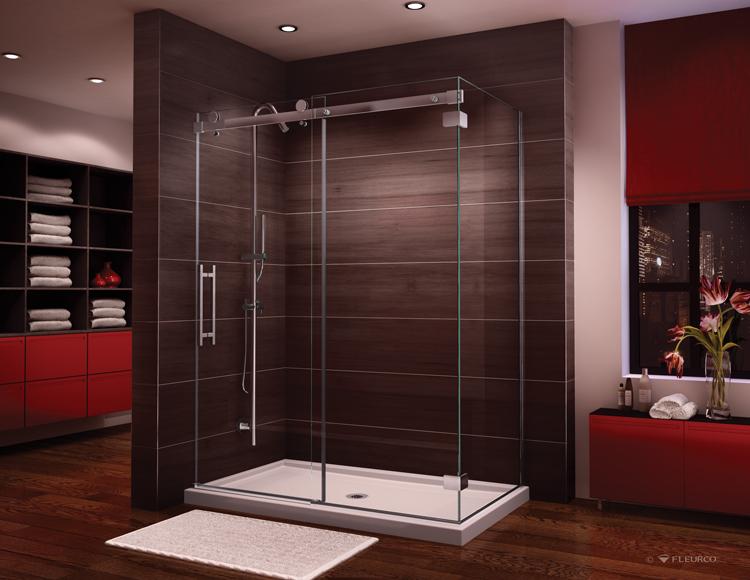 Fleurco Glass Shower Doors Novara In Line 2 Sides