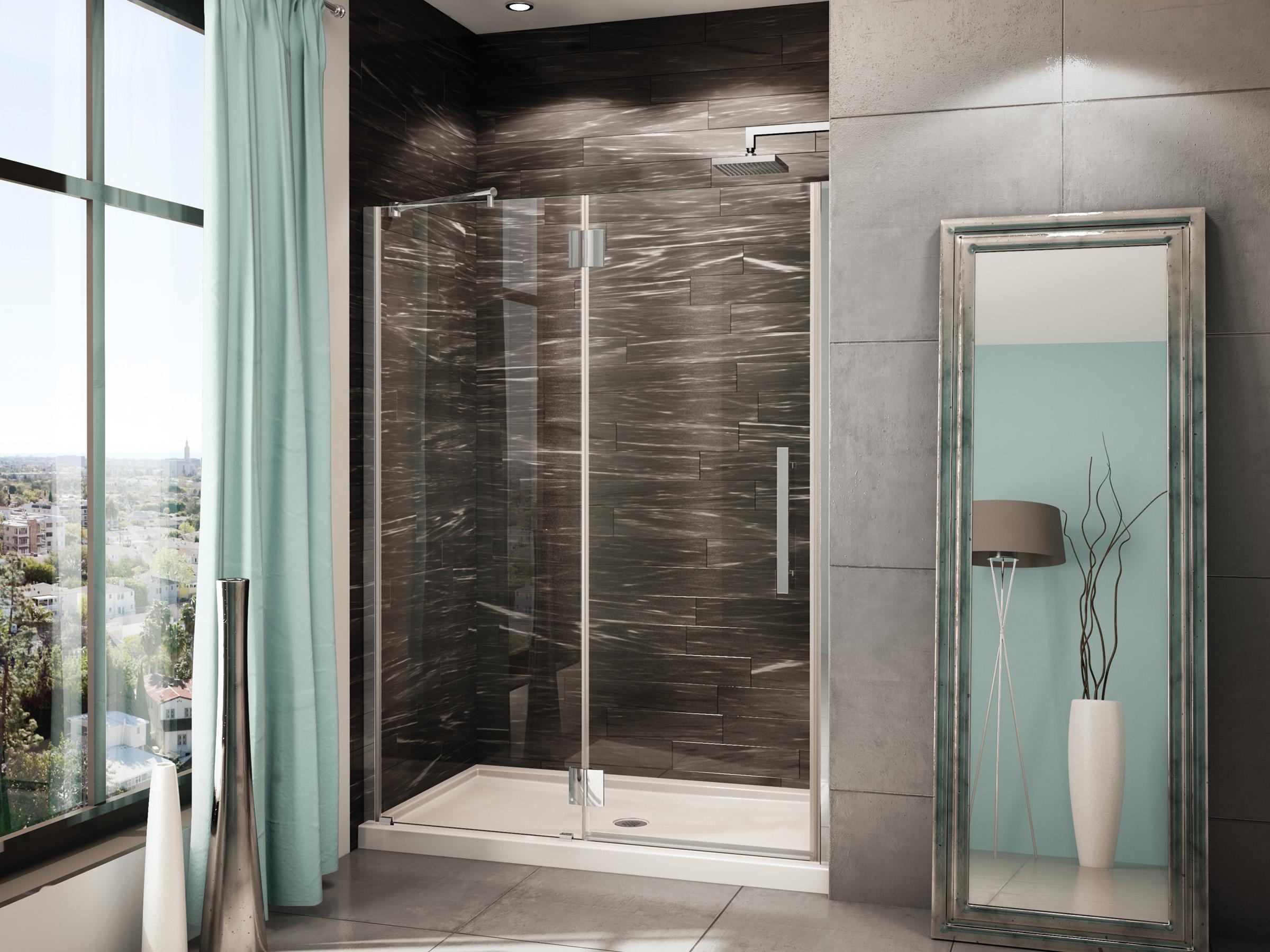 Fleurco portes de douche en verre platinum en alc ve for Portes de douche en verre