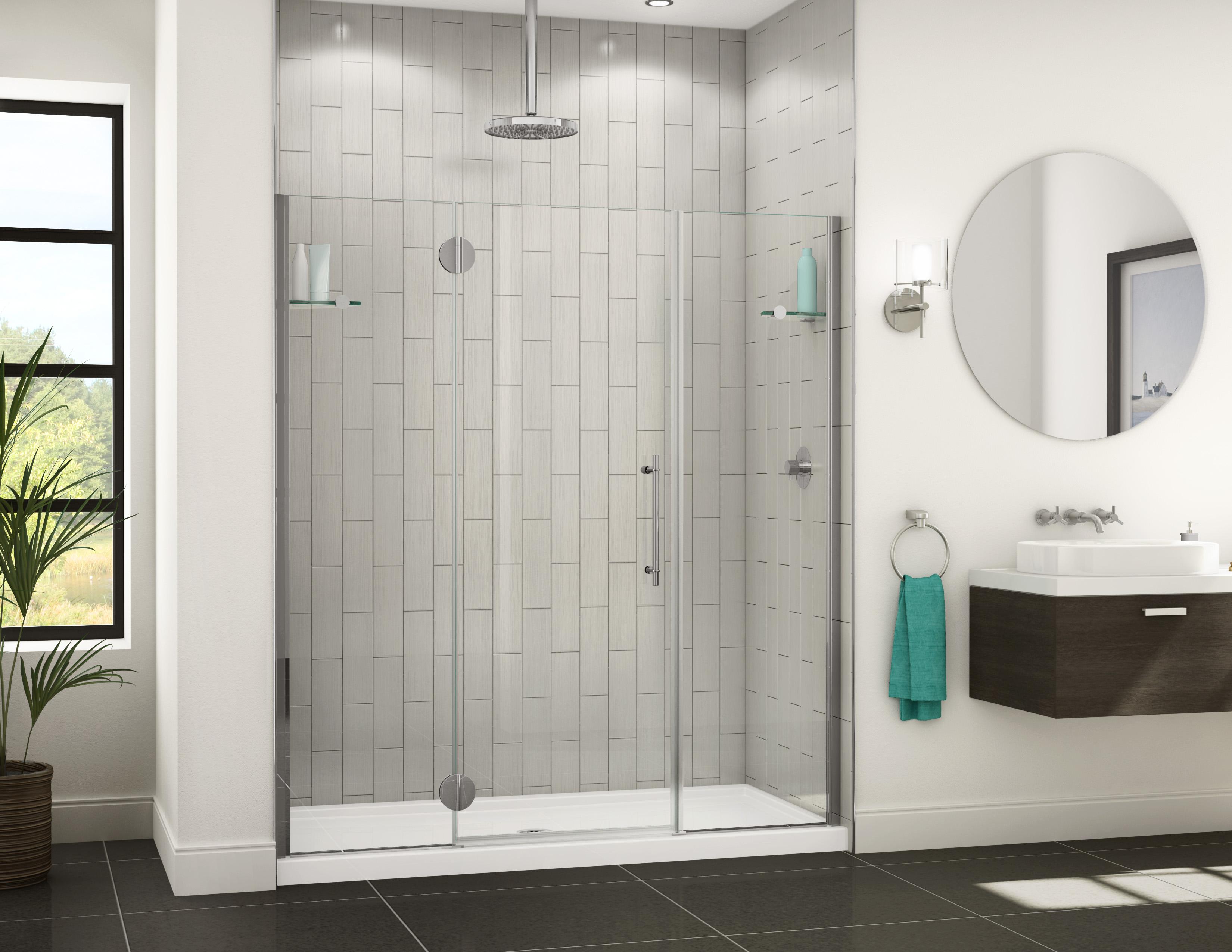 Fleurco portes de douche en verre platinum alc ve sans for Porte de douche sans cadre