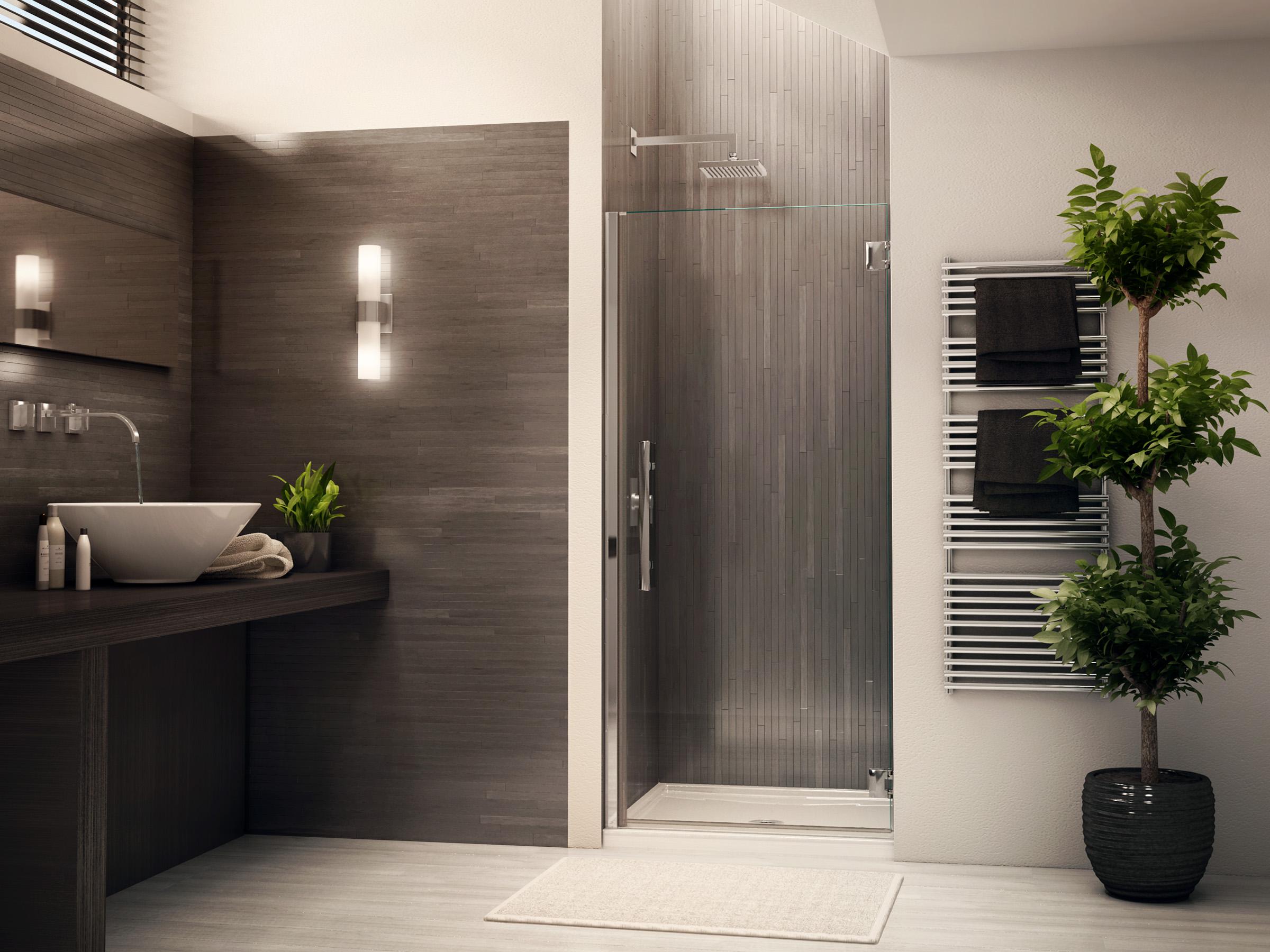 Fleurco glass showers platinum kara square base - Inspiration salle de bain ...