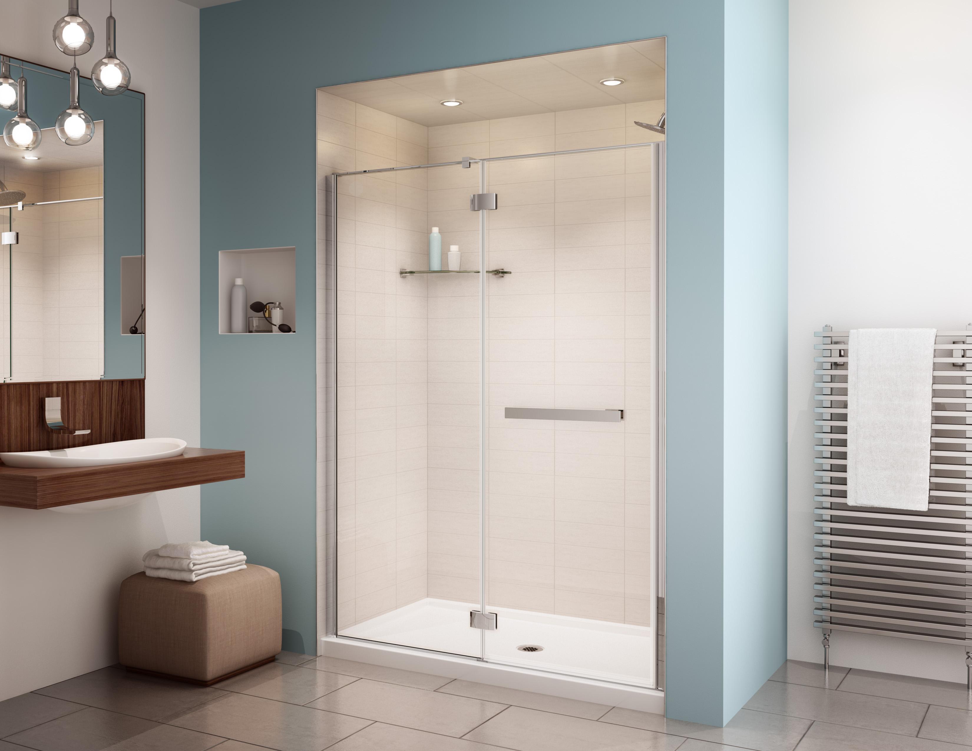 Fleurco Glass Shower Doors Platinum In Line 6 Mm